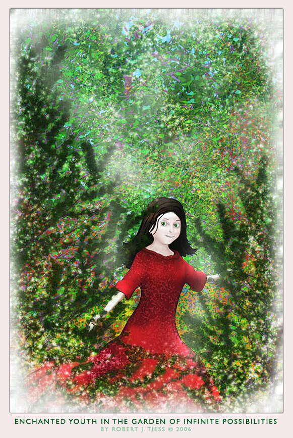 Enchanted Youth in the Garden of Infinite Possibilities - By Robert J. Tiess