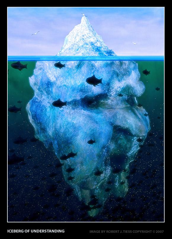 Iceberg of Understanding - By Robert J. Tiess