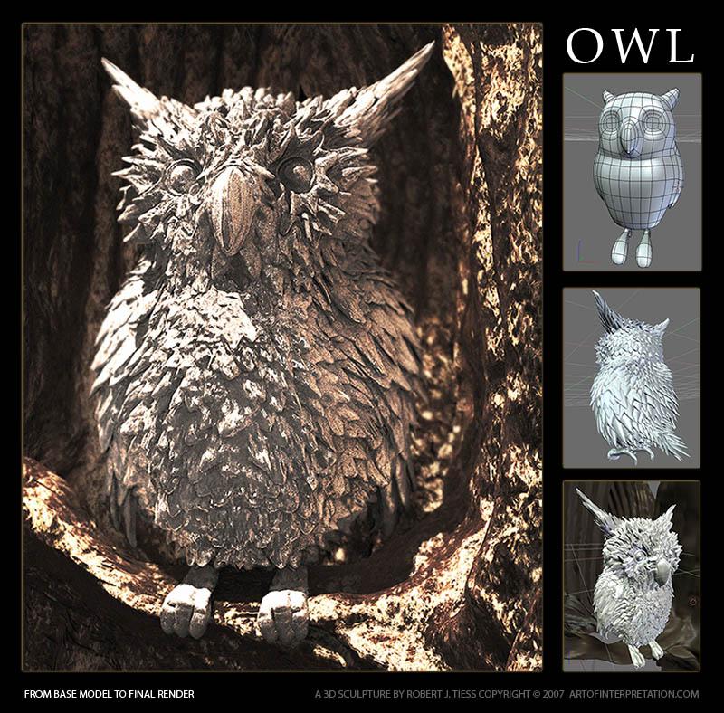 Owl - By Robert J. Tiess