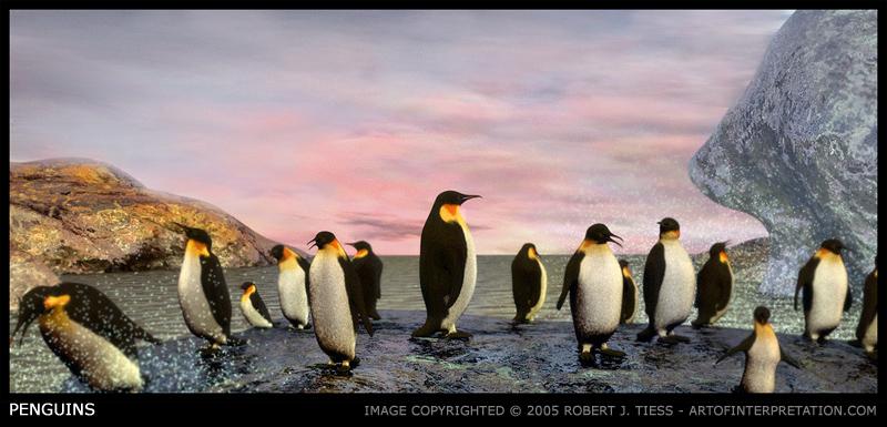 Penguins - By Robert J. Tiess