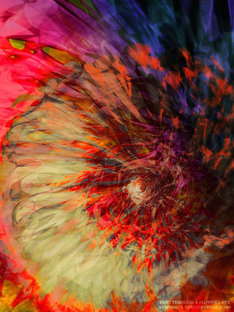 Time, Through a Flower's Eye - By Robert J. Tiess