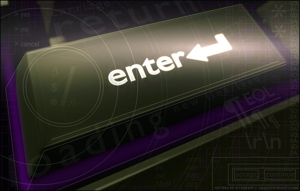 Enter Key - By Robert J. Tiess