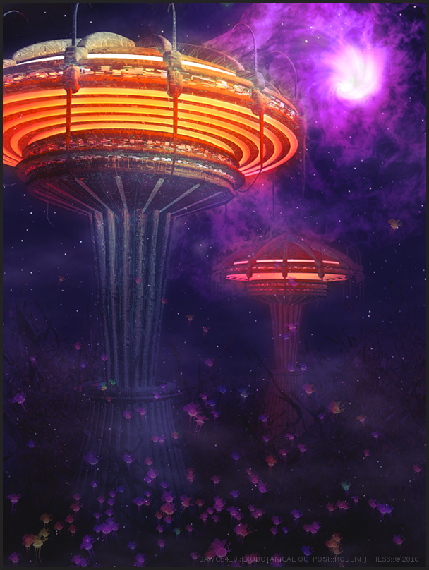 Exobotanical Outpost - By Robert J. Tiess