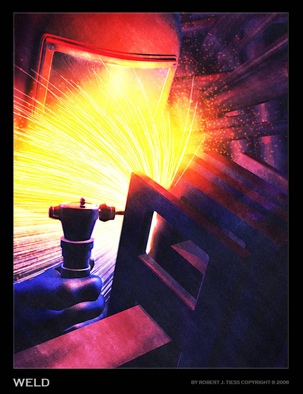 Welder - By Robert J. Tiess