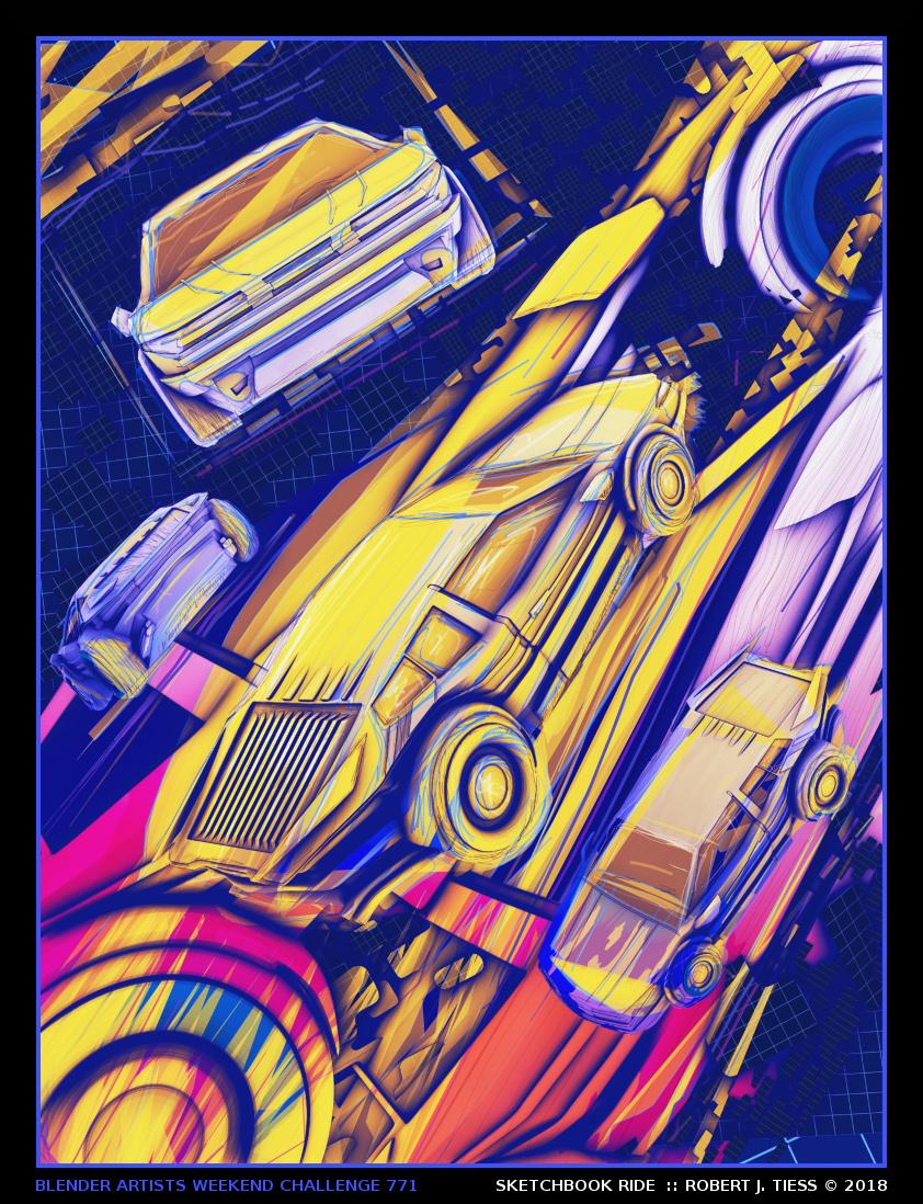 Sketchbook Ride - By Robert J. Tiess