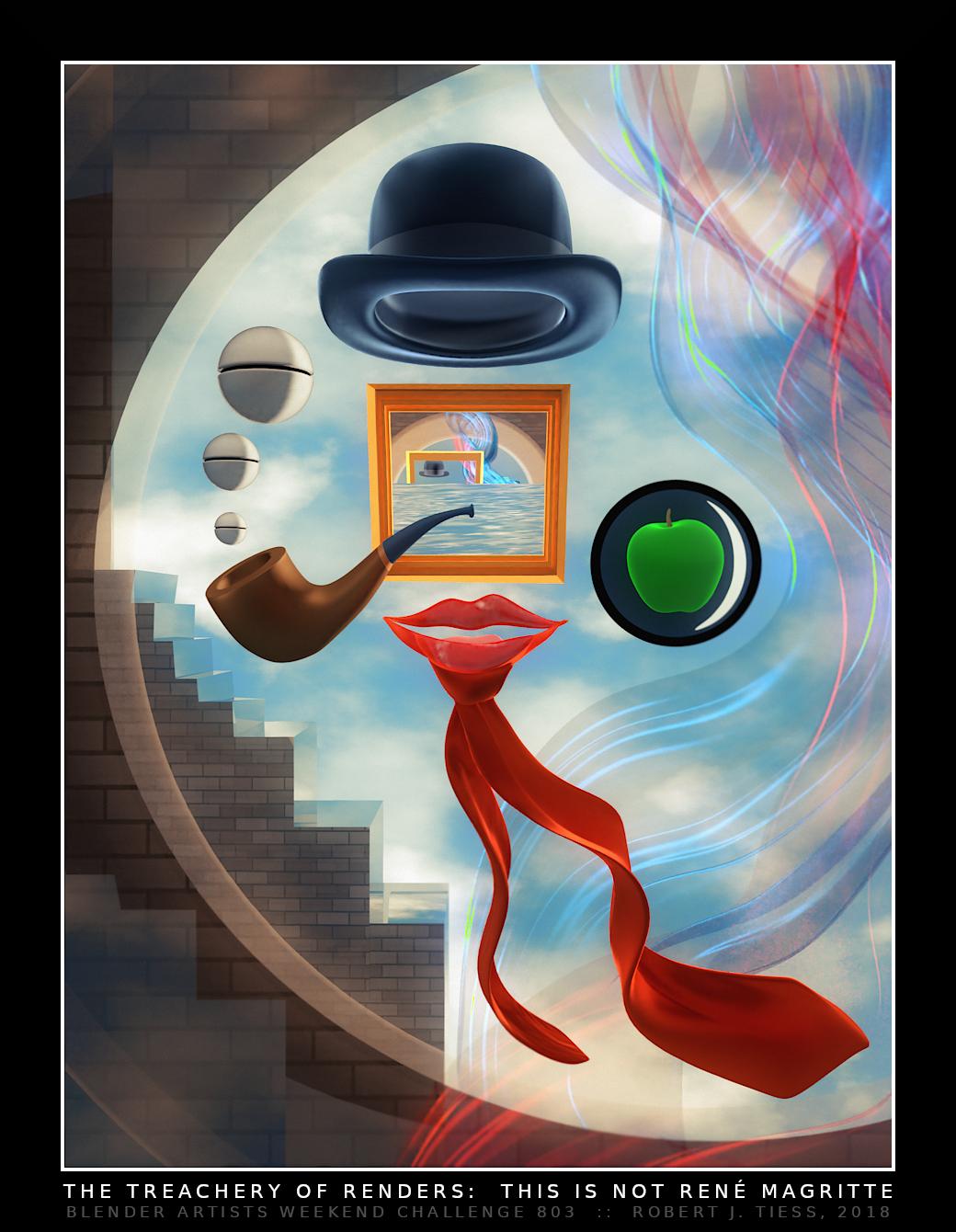 The Treachery of Renders: This Is Not Rene Magritte - By Robert J. Tiess