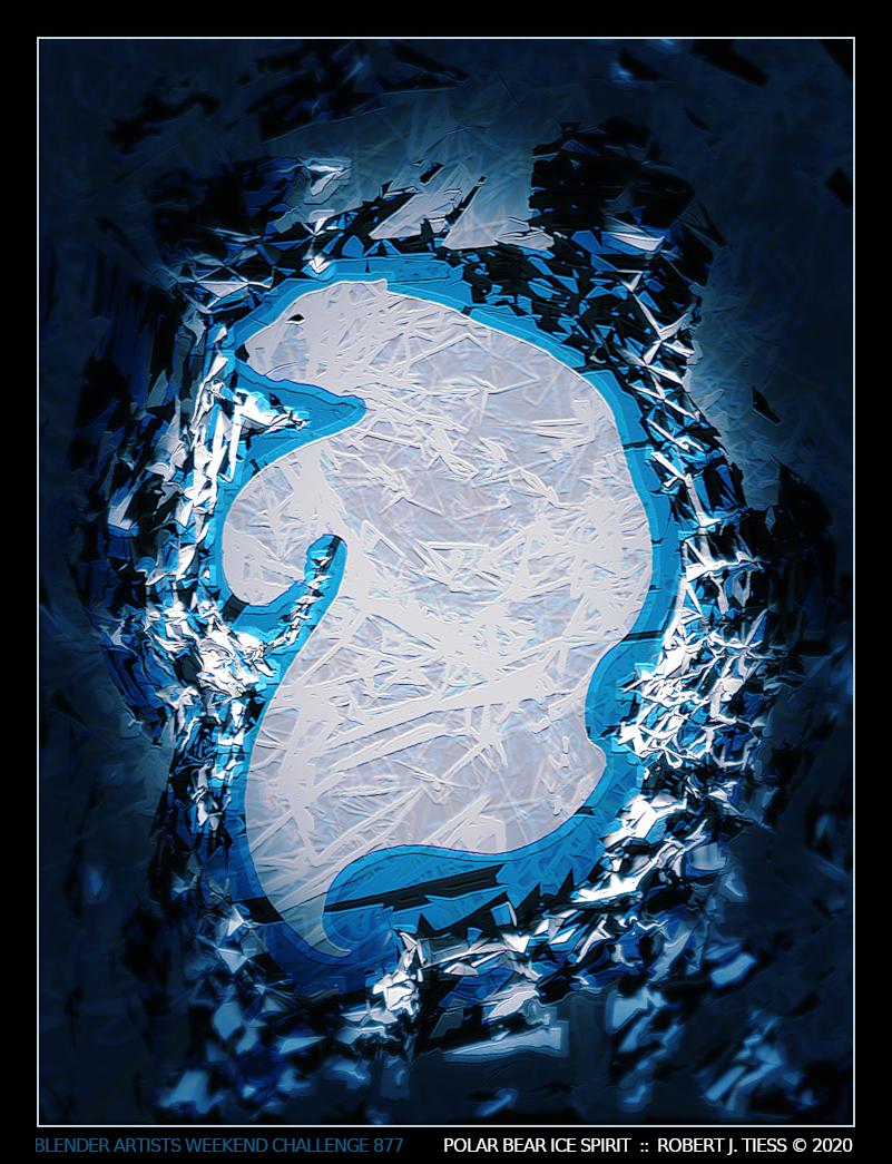 Polar Bear Ice Spirit - By Robert J. Tiess