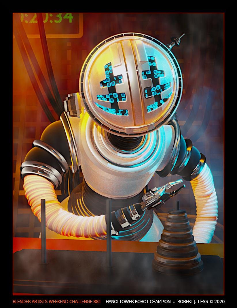 Hanoi Tower Robot Champion - By Robert J. Tiess