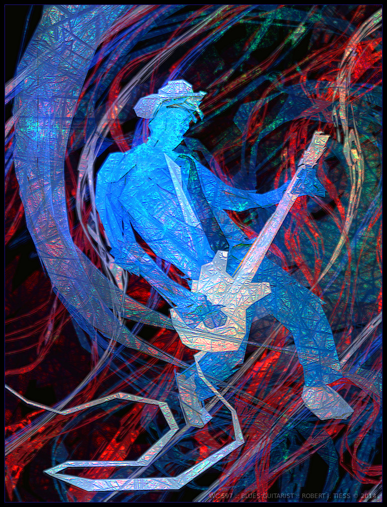 Blues Guitarist - By Robert J. Tiess