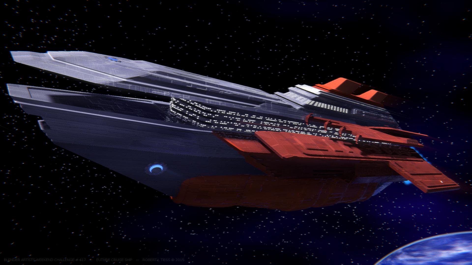 Future Cruise Ship - By Robert J. Tiess