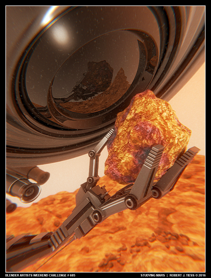 Studying Mars - By Robert J. Tiess