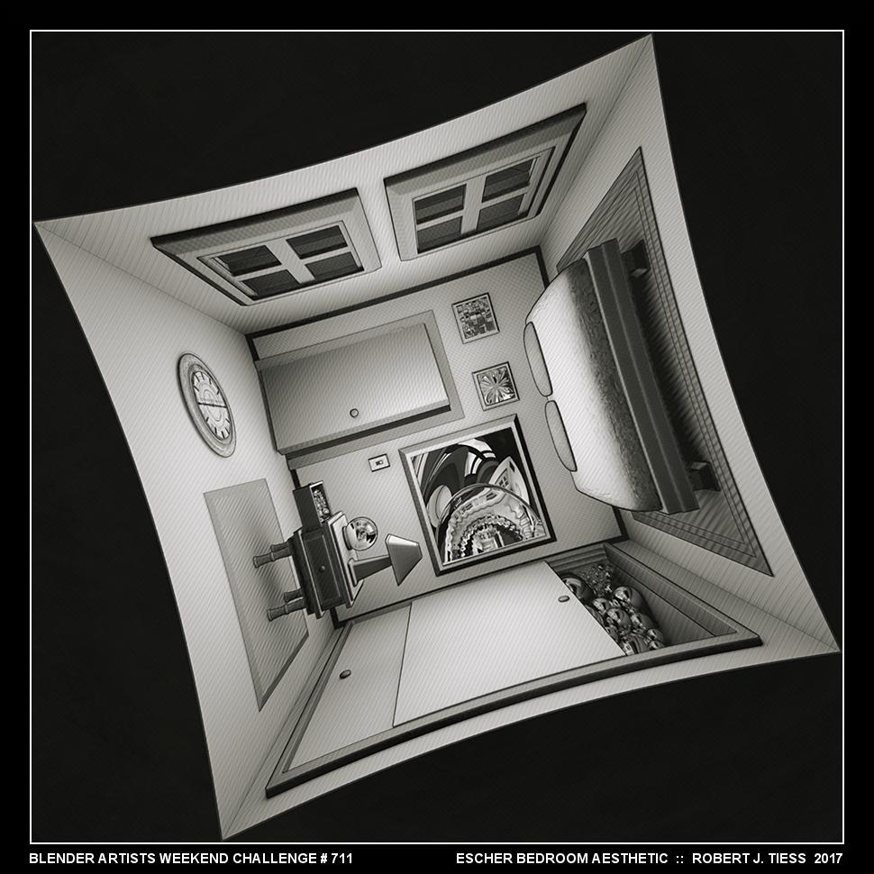 Escher Bedroom Aesthetic - By Robert J. Tiess