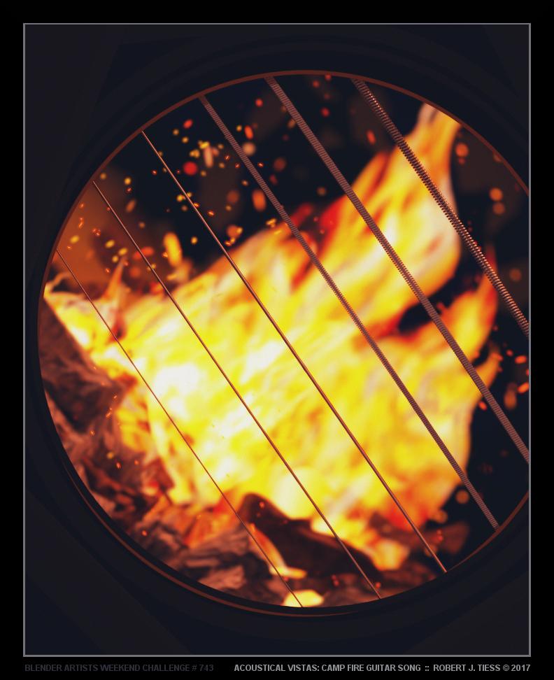 Acoustical Vistas: Camp Fire Guitar Song - By Robert J. Tiess
