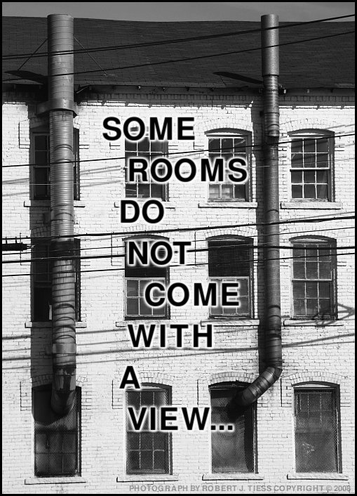 Some Rooms Do Not Come with a View - By Robert J. Tiess