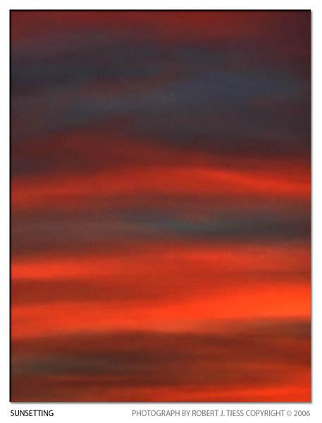 Sunsetting - By Robert J. Tiess