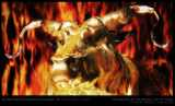 The Burning of the Golden Calf by Moses